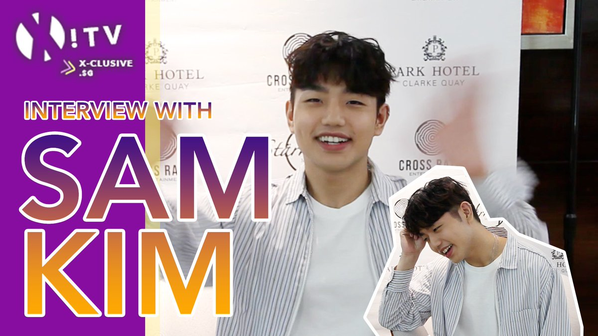 (X)TV!: INTERVIEW with Sam Kim Sun And Moon Concert in Singapore Watch on to find out what @LeegitItsSam thinks of our city, just what happened with that yellow shirt & more. youtu.be/a0HzMKeER-o #SAMKIM #SunAndMoon #샘김