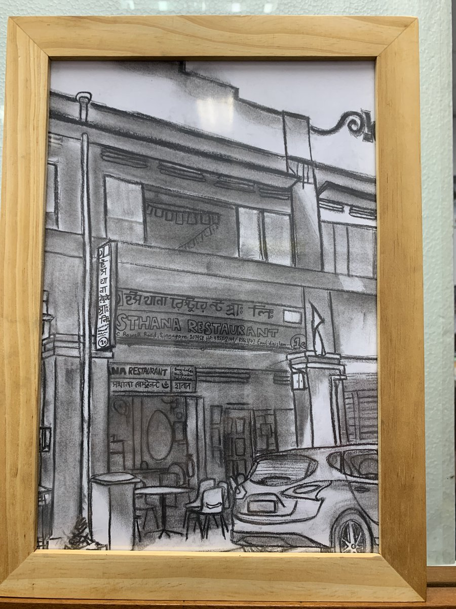 They gifted Debbie a beautiful pencil sketch of the Little India shophouse where TWC2's shelter and meal programme is based at, and this drawing now adorns the wall of #twc2sg's office. https://t.co/Nb6TsvRWmR