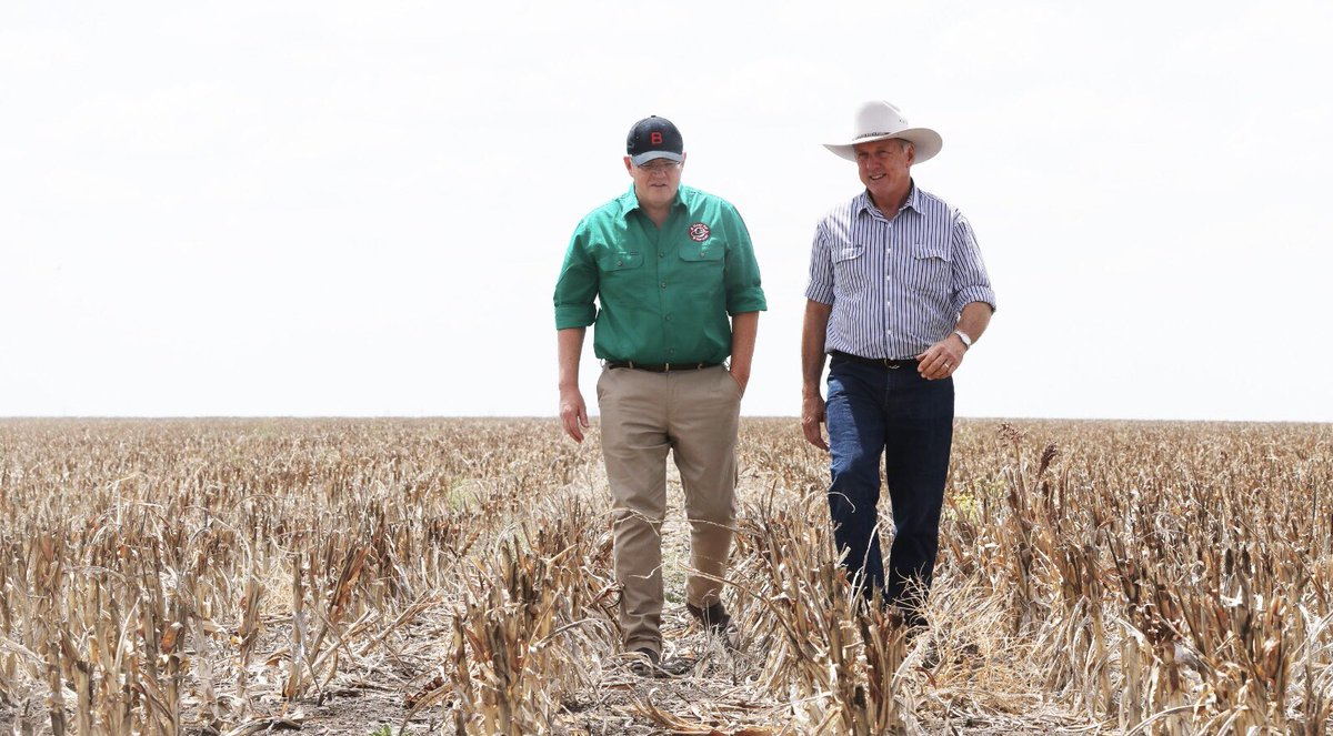 Our drought response is not set and forget. It's ongoing - today we announced $100m more funding for drought affected farmers and communities, with more than $40m to be paid this financial year. We're going to continue to listen and act to help our farmers.