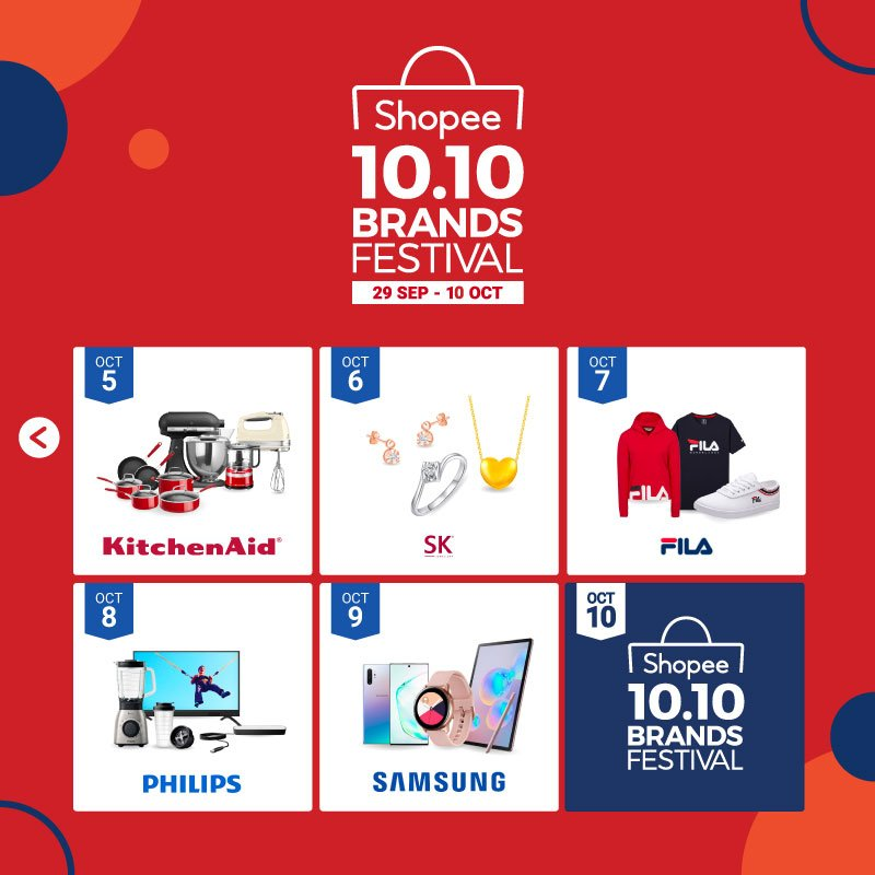 Shopee Singapore On Twitter Find Out What S In Store For The Shopee 10 10 Brands Festival Starting Tomorrow Which Day Are You Most Excited For Find Out What Deals Await You Here