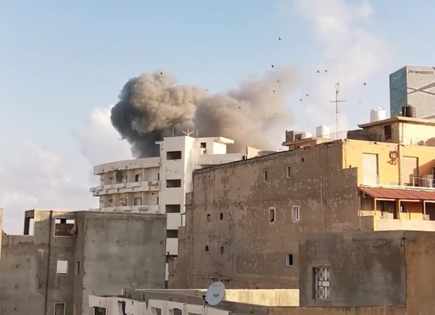 LNA airstrike this morning in Tripoli