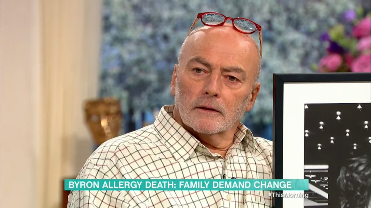 'We want more accurate allergen information. We also want there to be a mandatory requirement for a waiter to ask customers if they have allergies.'  The father of Owen Carey, who tragically died following a severe allergic reaction to chicken coated in buttermilk