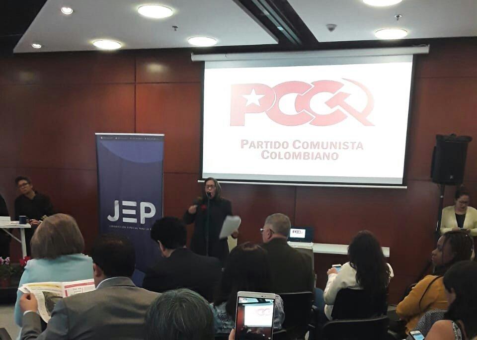 Carta politica informe a la JEP, Partido Comunista Colombiano