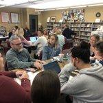 Image for the Tweet beginning: Today Saint James teachers met