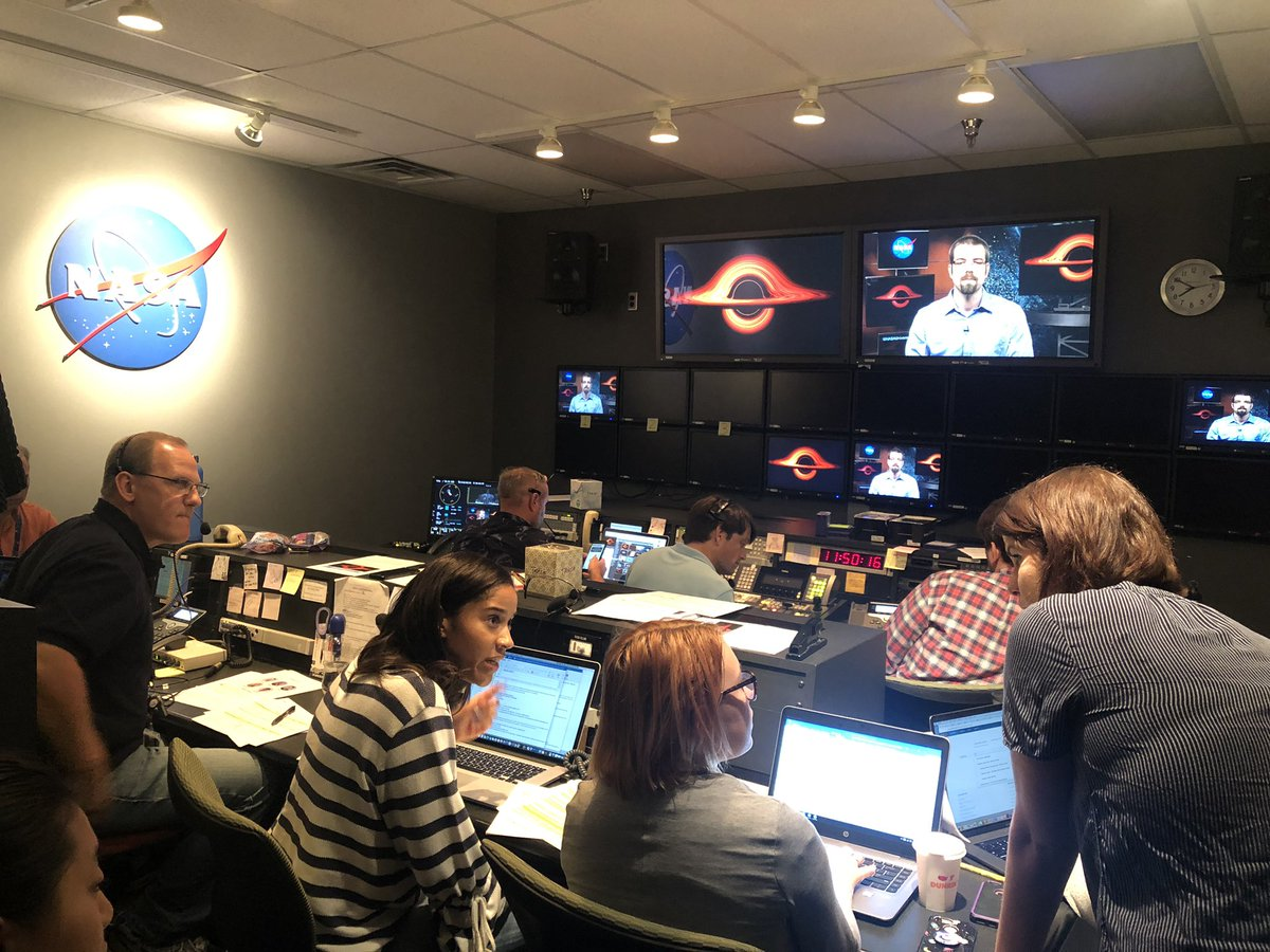 One of the really fun parts of working at NASA is getting to share your work with the public. Here's @CarnegieAstro Tom Holoien getting ready for live TV interviews on the recent @NASA_TESS @NASASwift @SuperASASSN @LCO_Global and @ESA_XMM result.