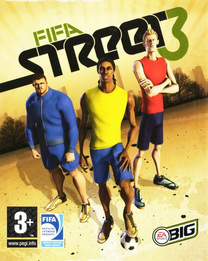 @petercrouch Gennaro Gattuso, Ronaldinho and @PeterCrouch on the front cover of FIFA Street 3... Theres only one 🐐 here. #FIFA20