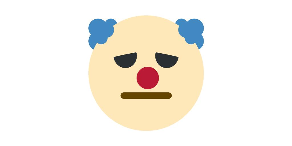 base from 🤡 (clown) eyes from 🤢 (unwell) mouth from 😑 (straight)