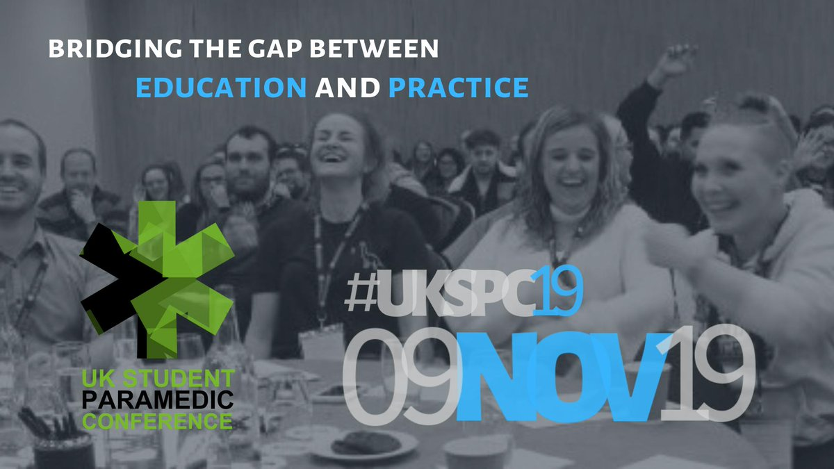 #UKSPC19... are you ready?  Head to http://tiny.cc/Book_Now_UKSPC19 … to catch up on our programme, secure your place and join HUNDREDS of #studentparamedics at the largest student paramedic event in the UK! #ParaCPD @ParamedicsUK