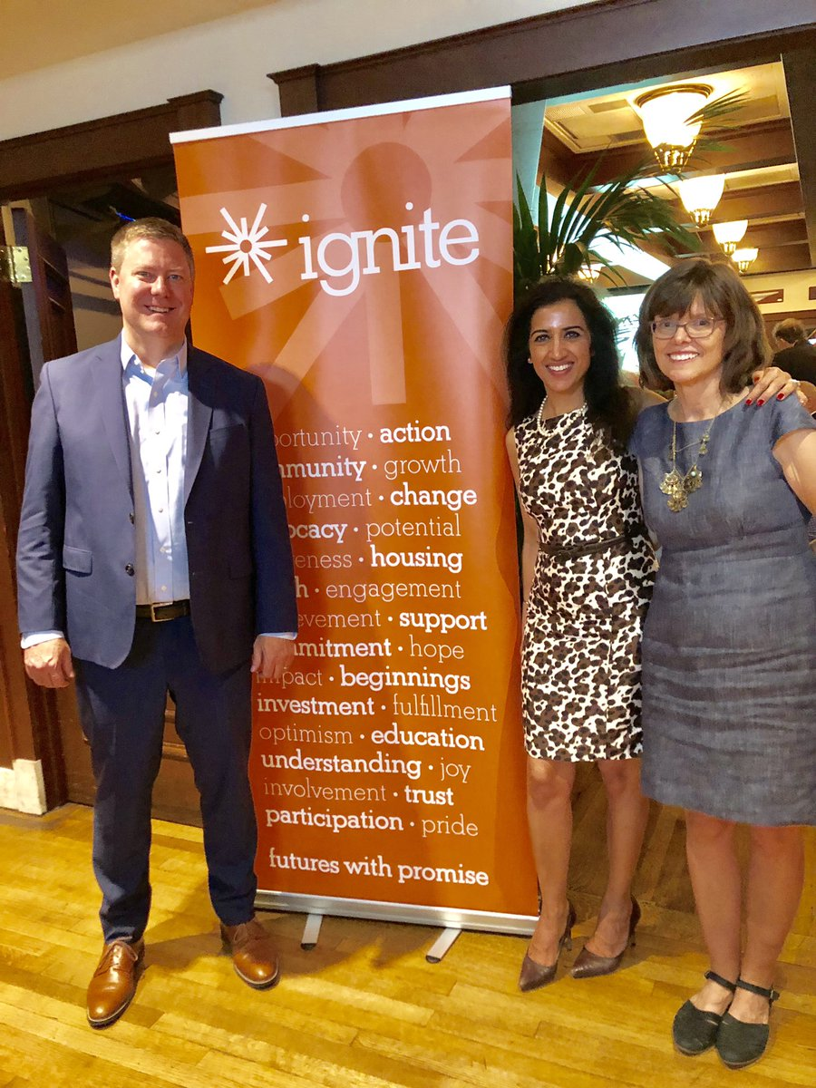 Honored to work with Ignite, an org that helps teens who are homeless & assists them in a future with promise! Great evening attending an Ignite fundraiser. Proud of United & our community engagement! @weareunited @SharonGrantUA @Tobyatunited @ignite_promise