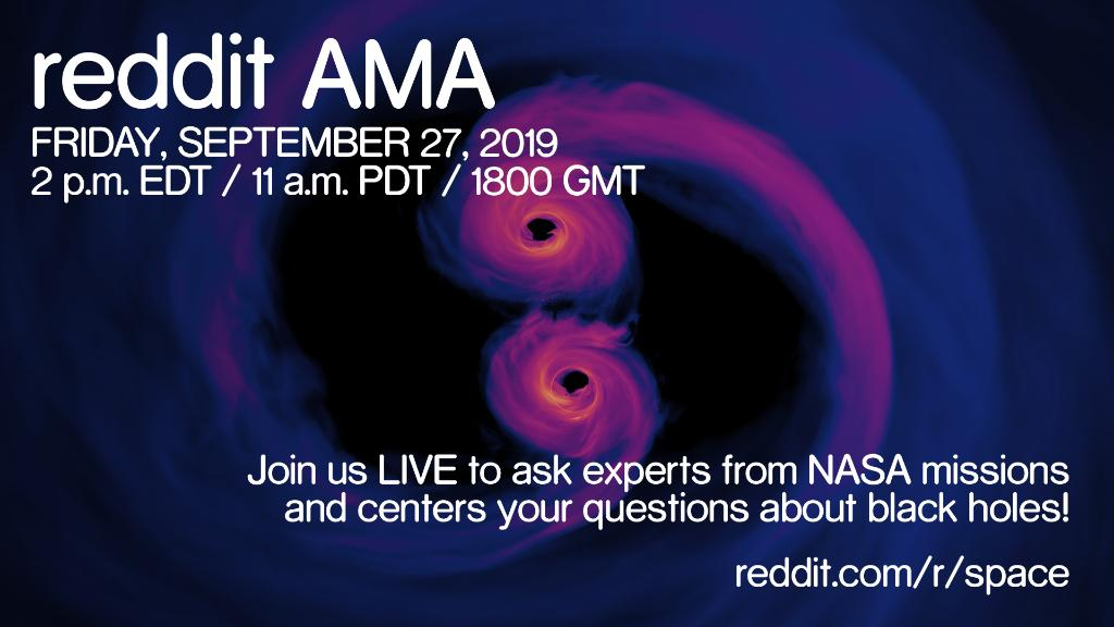 Struggling to understand the gravity of the situation? Ask our experts your questions about black holes on @reddit at 2pm ET, 11am PT today! Hear more about the latest on black holes. #BlackHoleWeek⚫ reddit.com/r/space/