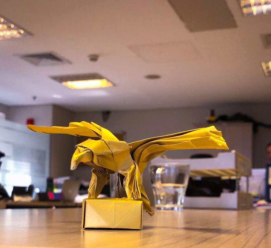 3d Origami Eagle Tutorial - YouTube | 836x912