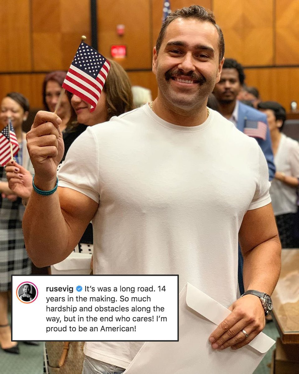 """Big congrats to """"The Bulgarian Brute"""" on becoming a U.S. citizen! 🇺🇸 https://t.co/GbJDXcQrZl"""
