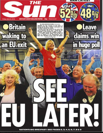 Far Right extremist Billy Charlton, pictured 2016 on The Suns front page celebrating Brexit in Sunderland(thats him in the blue Nike top), was jailed today for inciting racial hatred independent.co.uk/news/uk/crime/…
