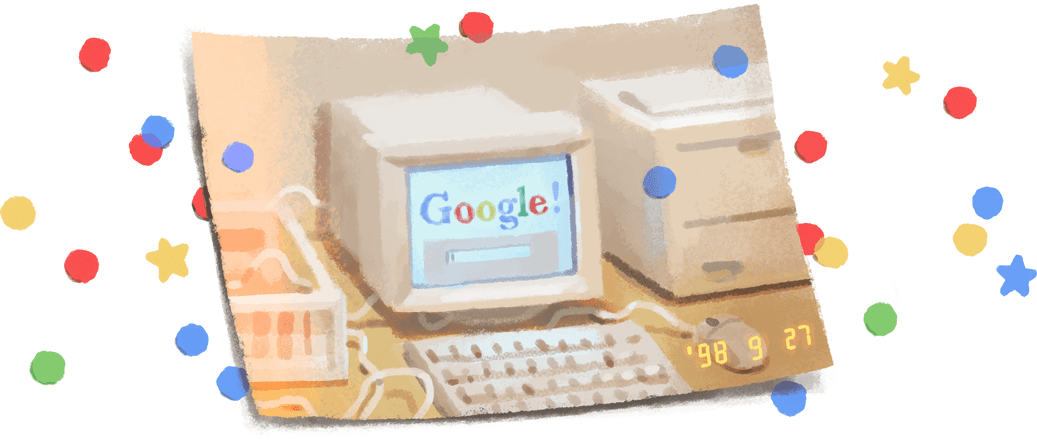 "🎉 It's @Google's 21st birthday! 🎂  ""We chose our system name, Google, because it is a common spelling of googol,"" wrote Sergey Brin & Larry Page, back then just 2 Stanford Ph.D. students making a ""very large scale search-engine.""  🥳#GoogleDoodle → https://t.co/lfSJNhSDjJ https://t.co/uDT29lwsLx"
