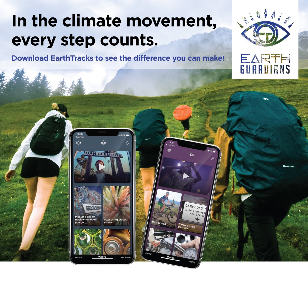 Our planet's climate is in a state of emergency. And you have the power to make an impact. Check out EarthTracks, the fresh new app showing you exactly how you can reduce water, waste, and carbon usage! Are you in? Find it in the App Store! #earthtracks