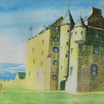 Image for the Tweet beginning: @AncientPin Fa' side Castle watercolour