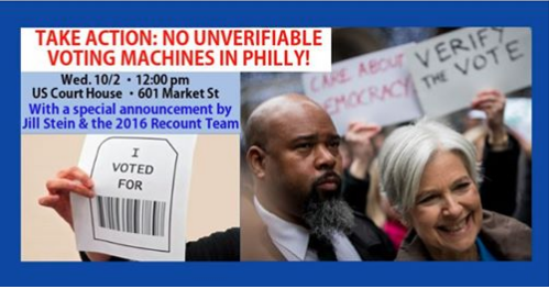 #PHILLY: Take action to stop Philadelphia from ramming through UNVERIFIABLE voting machines before the 2020 election! We fought hard to make PA agree to a voting system we can trust - come out to help defend our hard-fought victory! #StopTheMachine facebook.com/events/4937054…