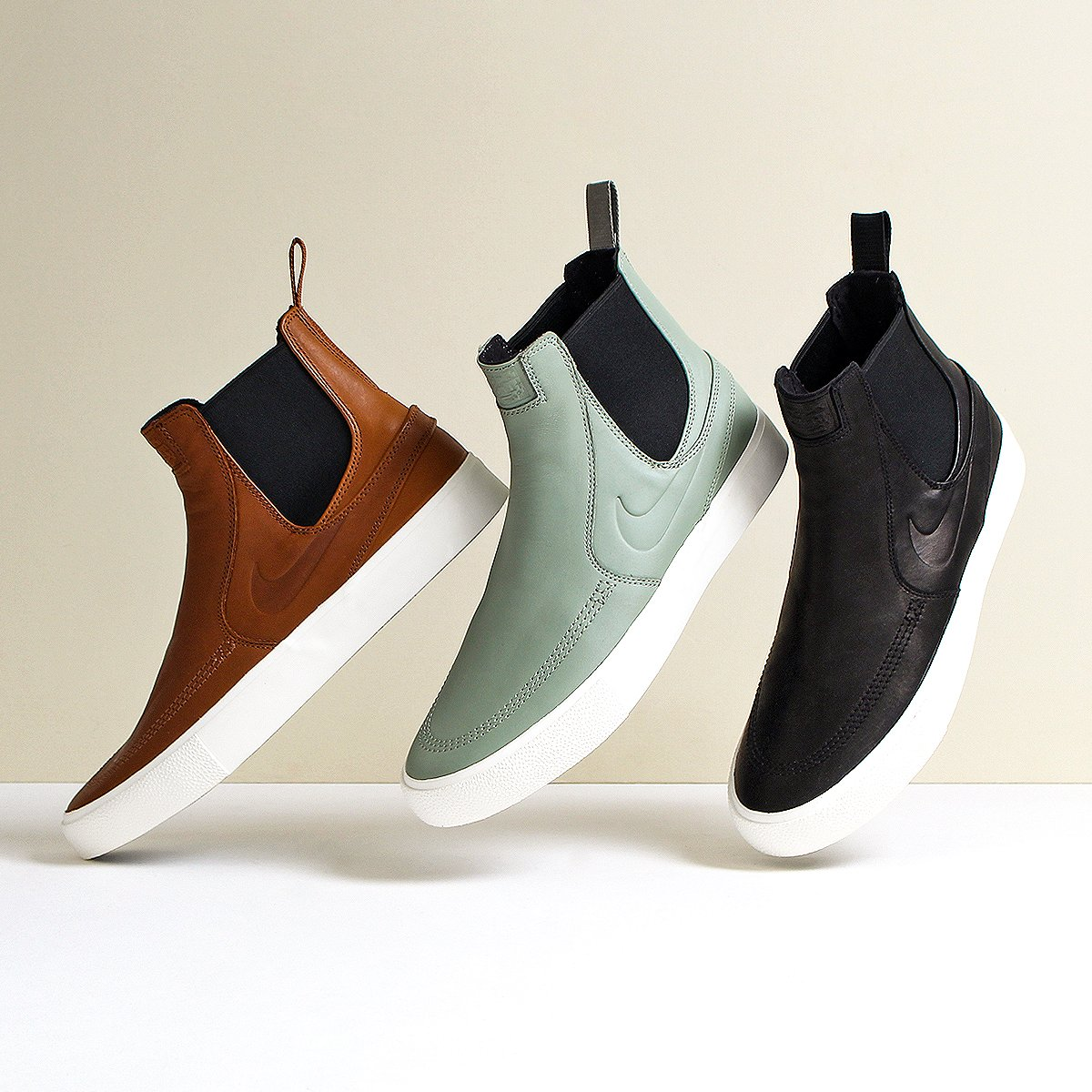 Urban Industryさんのツイート The Nike Sb Zoom Stefan Janoski Slip On Mid Rm Shoes Are Inspired By The Classic Design Of The Chelsea Boot With A Skate Interpretation Three Colourways Available Now At
