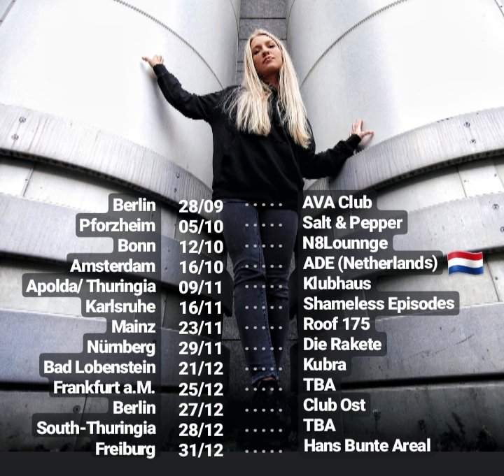 Autumn/Winter Dates  Where do we meet? Which Club is missing? Looking forward!  ______   First Dates for 2020 already confirmed.   Be quick and contact flo@dusteddecks.de  #techno #technodj #technodjane #tourdates #technolove #technolife #raveon #timetorave #ontourpic.twitter.com/oysJ4CPaYq