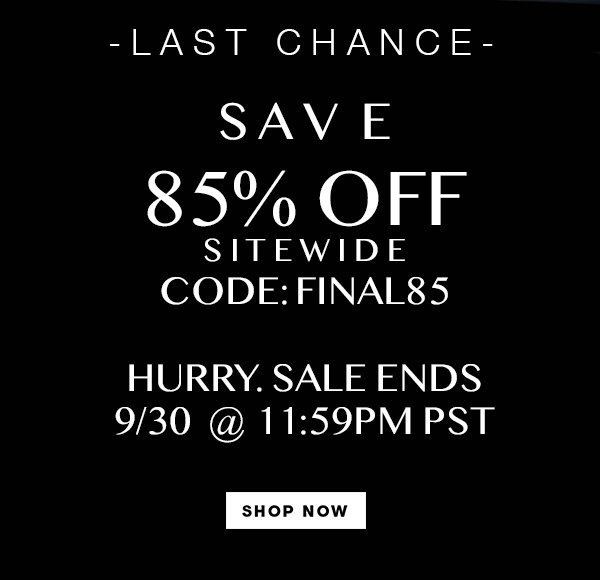 NOW 85% OFF SITEWIDE 😮 https://t.co/pItYmgbu7d
