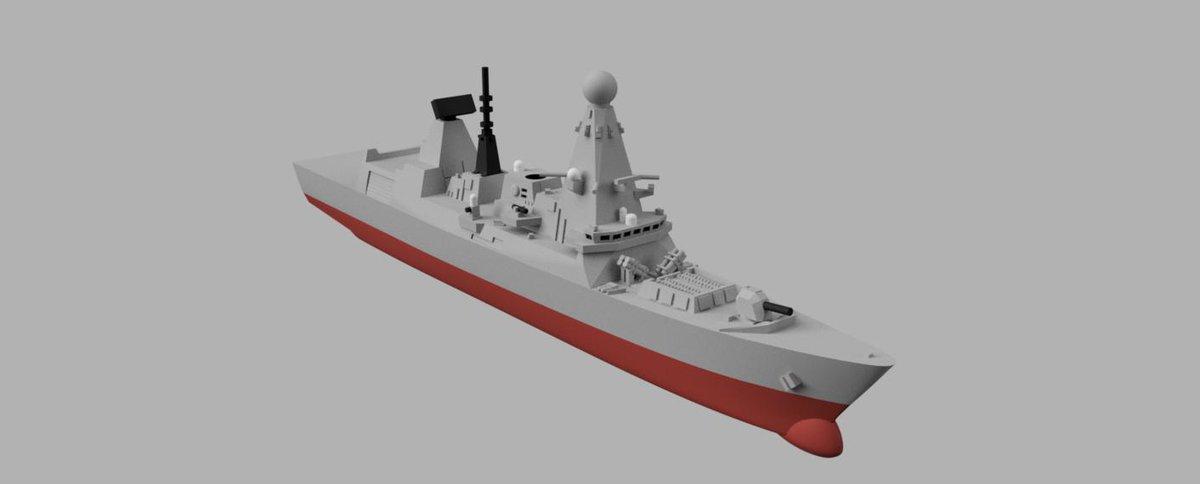 """おもさん on Twitter: """"現用艦船シリーズってことで、4種類目は英国 ..."""