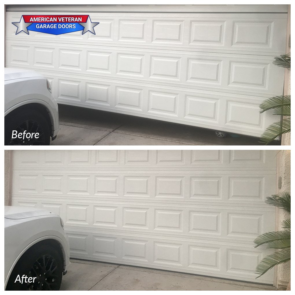 Your garage door should definitely hit the floor when its closed! Give us a call today to schedule an appointment - 702-979-2870 #FixItFriday