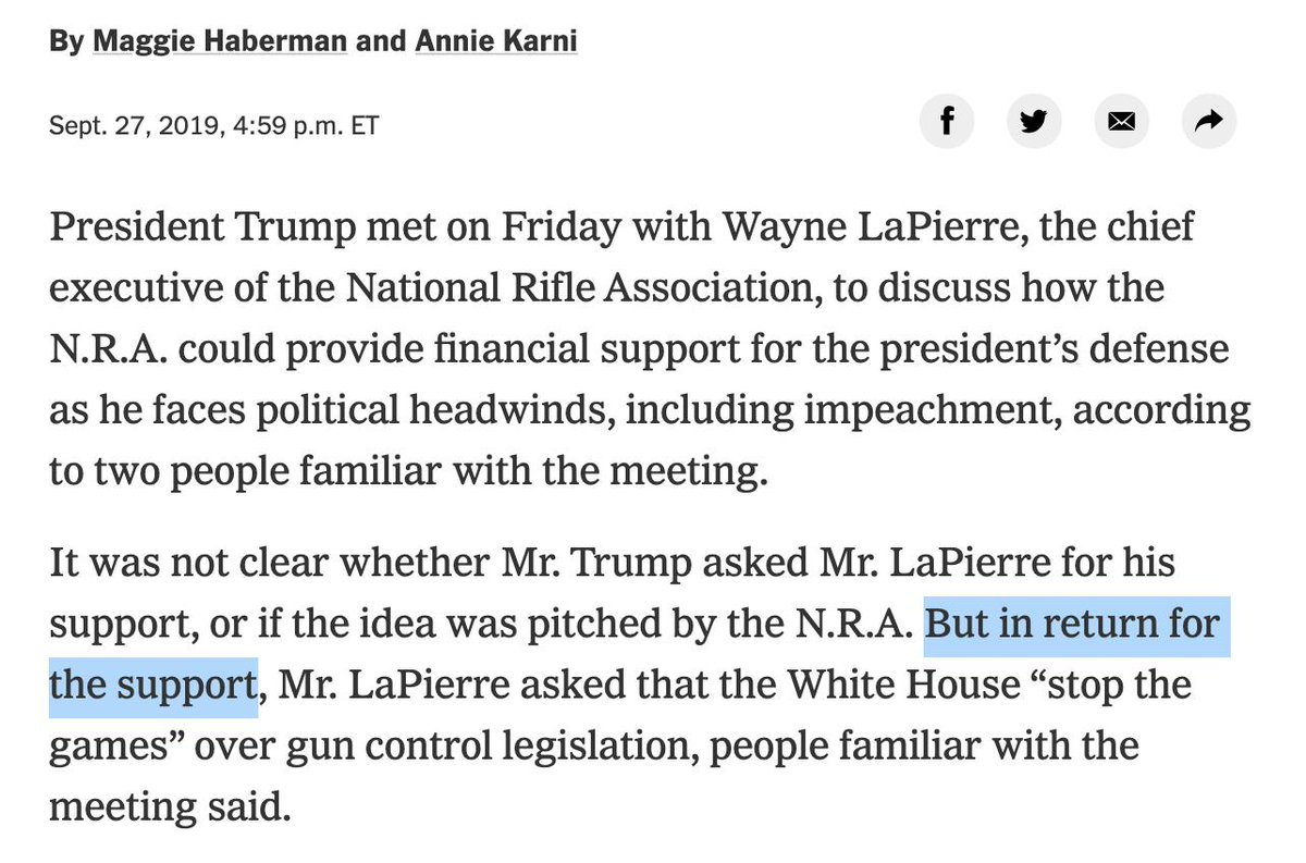 New York Times Edits Story Alleging Quid Pro Quo Between Trump And NRA