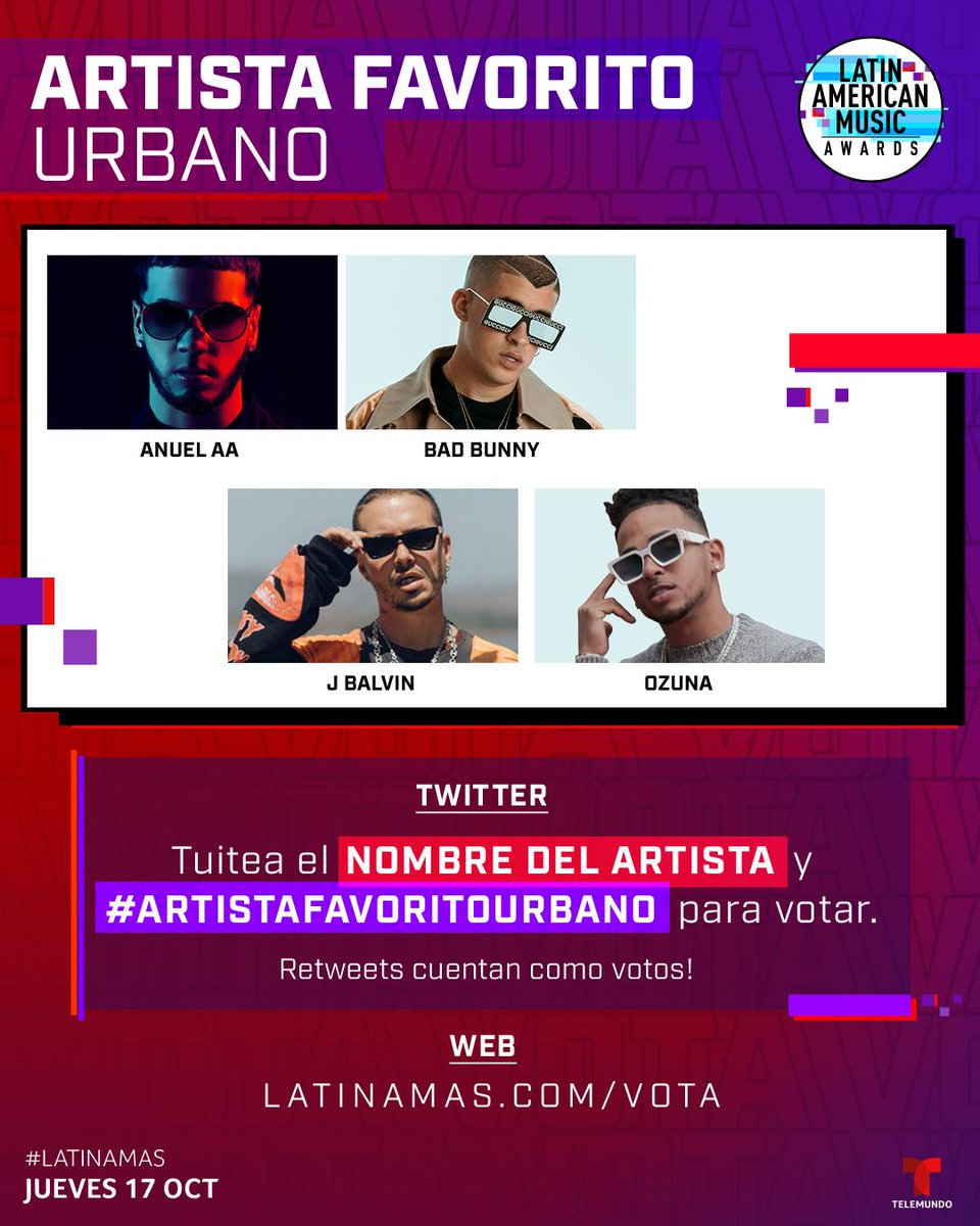 Latin American Music Awards On Twitter Voting Is Still Open For Favorite Artist Urban At The Latinamas You Can Tweet Artistafavoritourbano Artist Name Or Click The Linkinbio Https T Co Gqietfjkjn