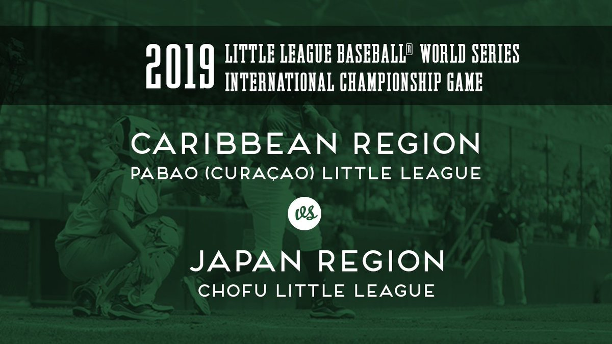 Check it out! Its the 2019 Little League Baseball International Championship, featuring Curacao🇨🇼 and Japan🇯🇵! 🎥: ltllg.org/yxTl50wu3R1