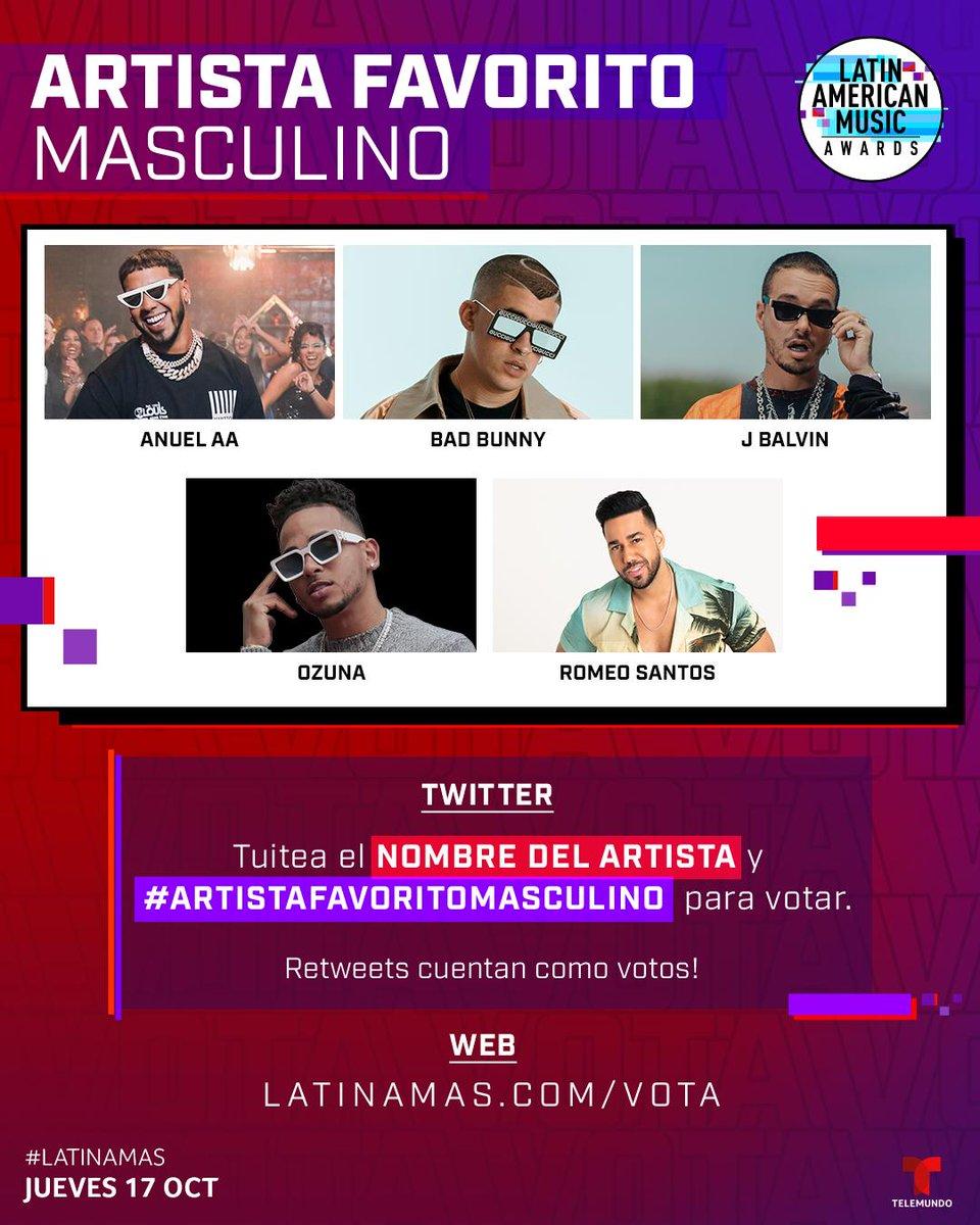 Latin American Music Awards On Twitter V O T E You Can Tweet Artistafavoritomasculino Artist Name Or Click The Linkinbio Latinamas