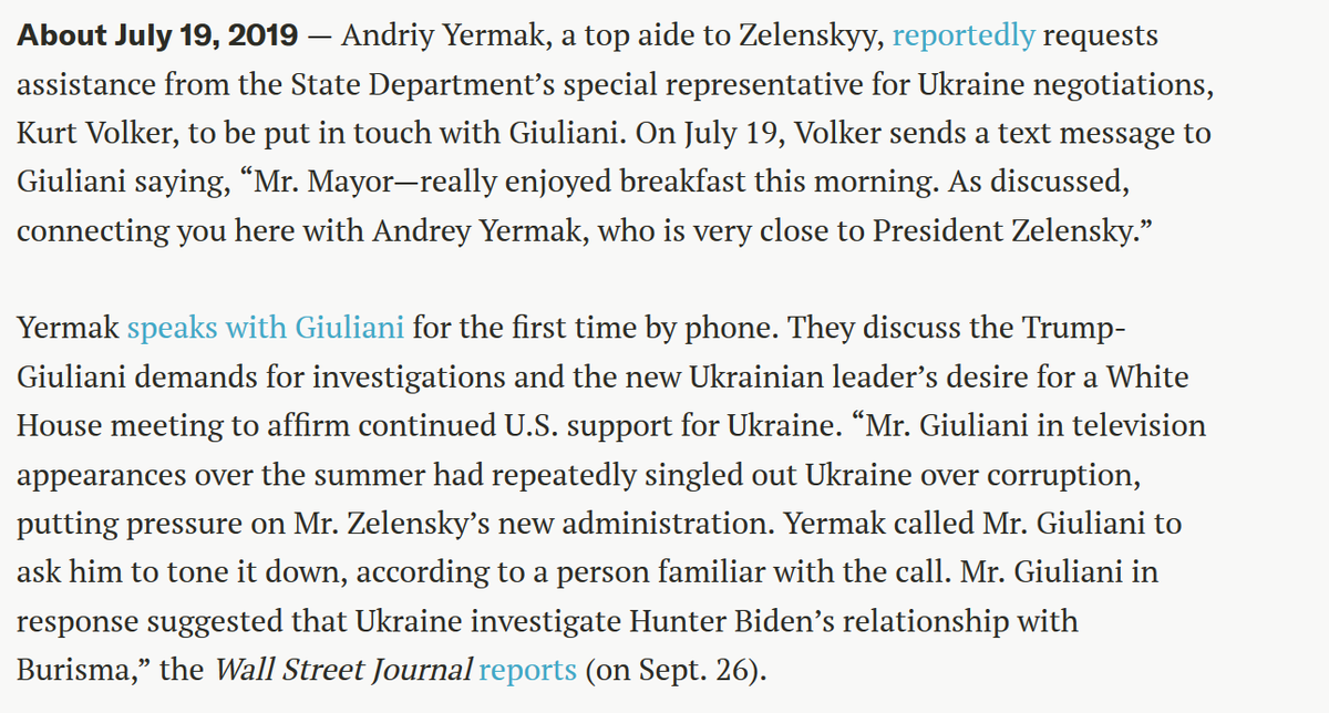 With news that #KurtVolker (State Department's special representative for Ukraine negotiations) has SUDDENLY RESIGNED—within hours of being subpoenaed by the House in impeachment investigation. Heres how he fits into the #UkraineTimeline👇 justsecurity.org/66271/timeline…