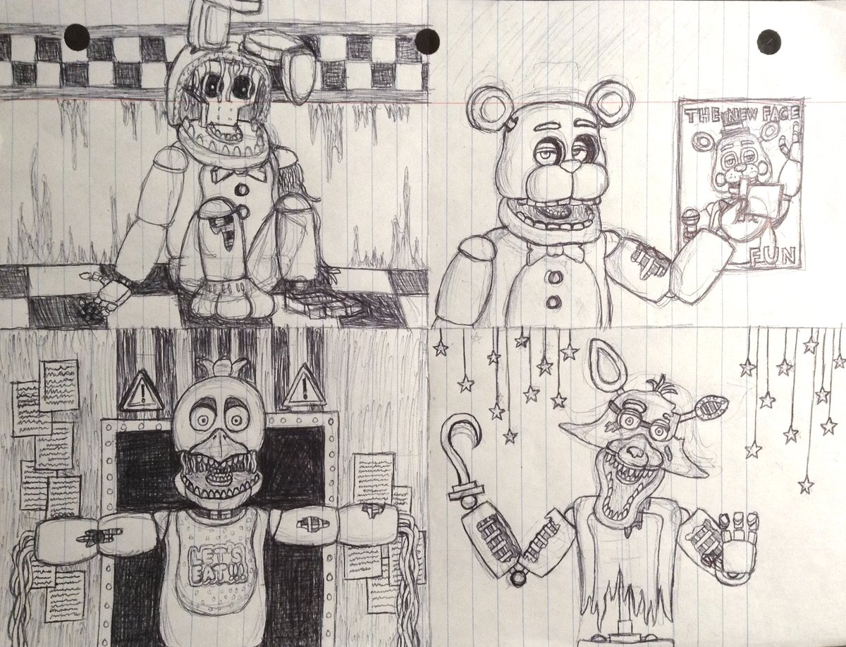 Fnaf 2 Drawings witheredfreddy hashtag on twitter