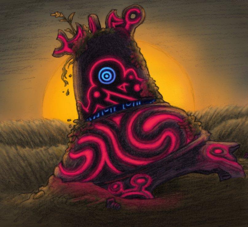 Poss On Twitter Daily Thing 2089 Fanart Of A Decayed Guardian From The Legend Of Zelda Breath Of The Wild Breathofthewild Zeldaenemies Botw Https T Co Jbk712wqa2