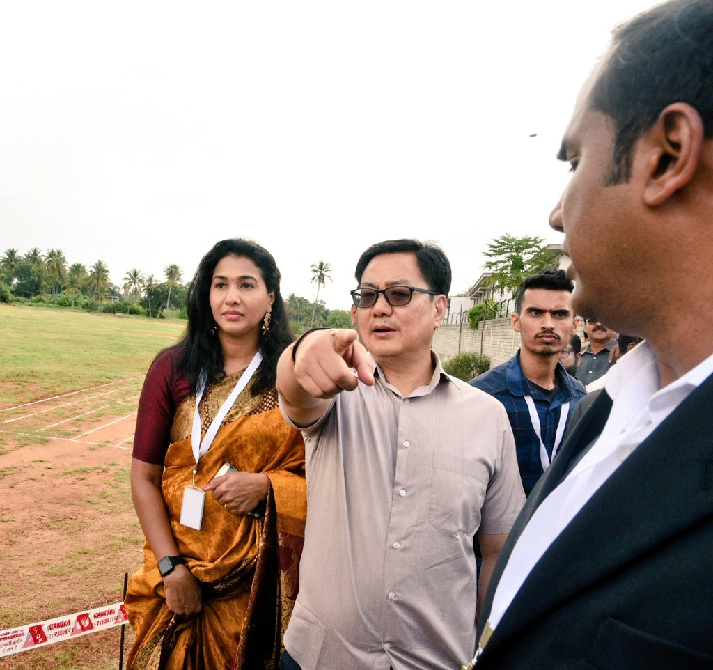 Visited Anju Bobby Sports Foundation at Bangaluru where a centre of excellence Sports Academy especially for the Athletics will be established. Anju Bobby remains the first and the only Indian to win medal in World Athletics Championship till date.pic.twitter.com/mTfAGoCnlf