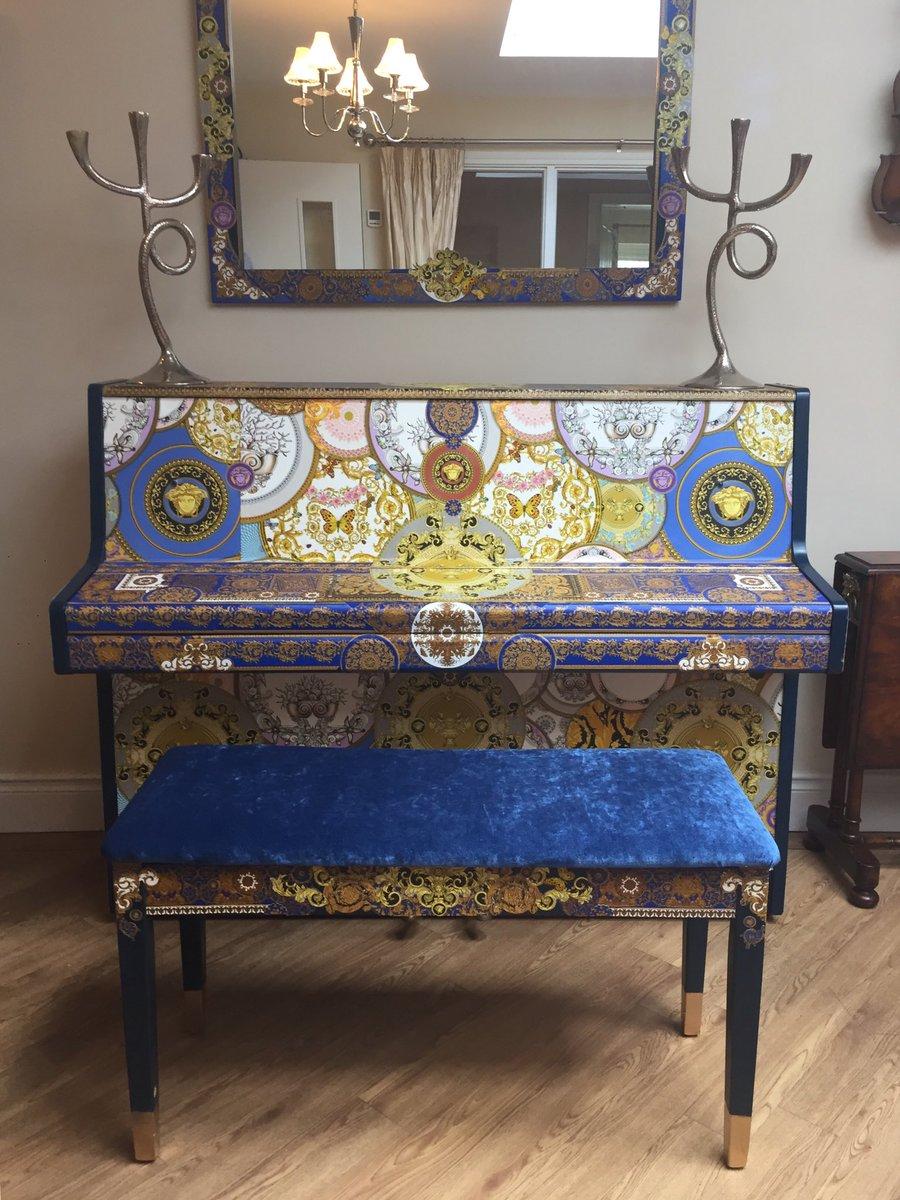 Astounding Sue Gifford Design On Twitter The Decoupage Piano Machost Co Dining Chair Design Ideas Machostcouk
