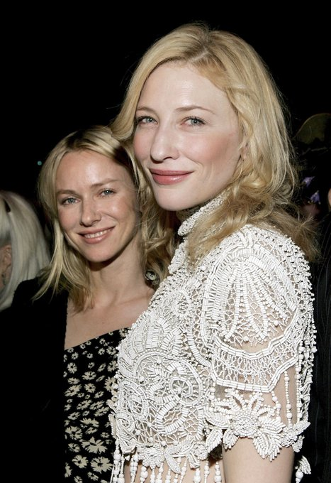 Happy Birthday, Naomi Watts!  Here are some pictures of her with Cate Blanchett in 2006.
