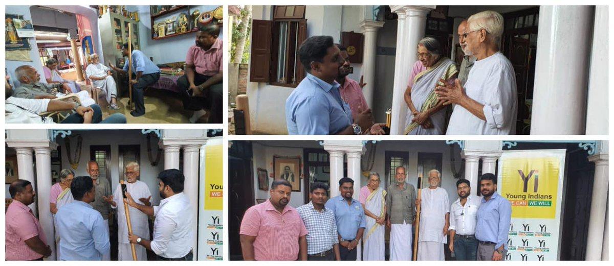 #YoungIndians #YiTrivandrum honour interacting Padmasree P.Gopinathan Nair, NationalChairman GandhiSmarakNidhi,trust managed Gvt of IND,participated QuitIndiaMovement 1942, He HonouringBirthAnniversary of Mahatma Gandhi.#Mahatma150 #YiCelebrates #YiTweetspic.twitter.com/vRm063yWjq