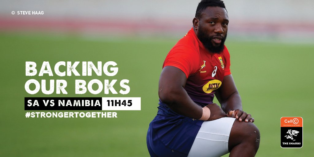 We are backing our @Springboks as they take on Namibia in their second game of Rugby World Cup 🇿🇦 #StrongerTogether #OurSharksForever