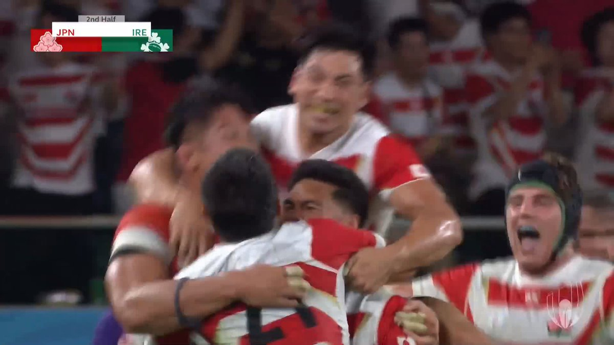 Hosts Japan upset Ireland with 19-12 win at Rugby World Cup