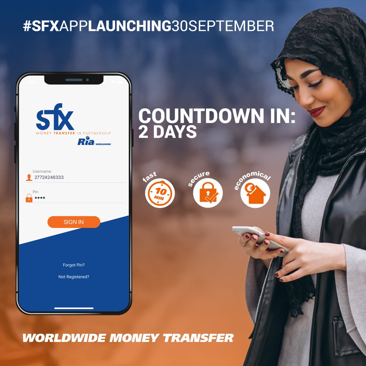 Money Transfer In Partnership With Ria