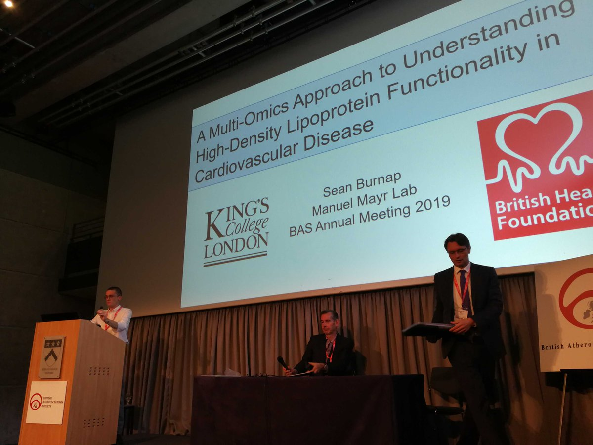 Great talk of Sean Burnap as one of the early career investigators of #BAS2019 meeting, on understanding the role of HDL in #CVD and how PCSK9 is linked to it.