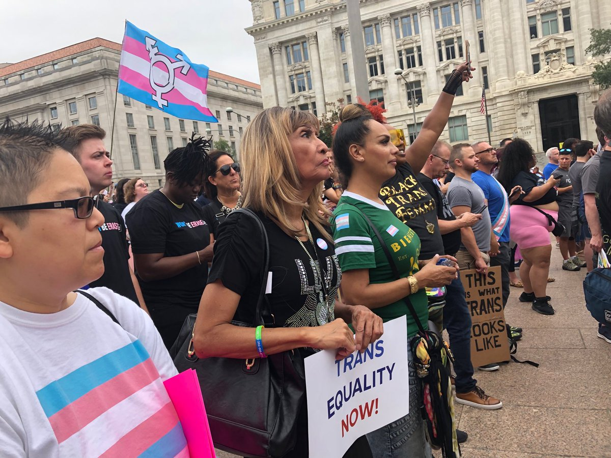 Organizers say it's a call to action for equality. More than a thousand people have gathered at Freedom Plaza this morning for the first National Trans Visibility March. @wusa9  #getupdc