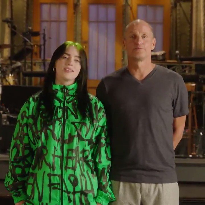 Oh no… @WoodyHarrelson and @billieeilish Freaky Friday'd again. 😳 #SNLPremiere TONIGHT 🎉