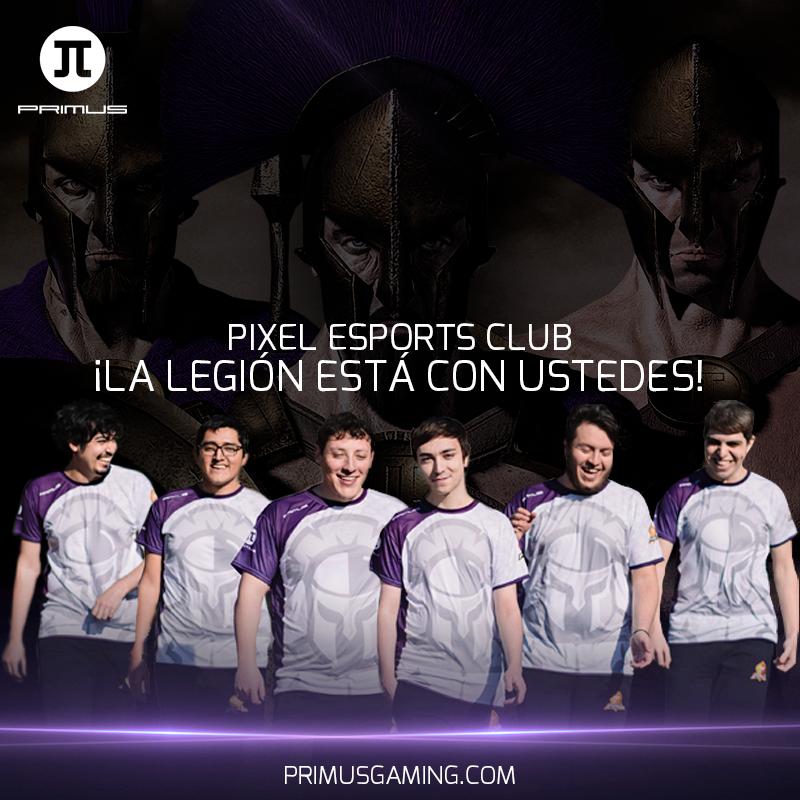 Apoyemos a @pixel_esports este 29 de septiembre en sus juegos de Promoción/Relegación. La Legión está con ustedes, aseguren su lugar en la LLA. 💜   #GoPIX #LegiónPrimus https://t.co/rUwKDRC3Ug