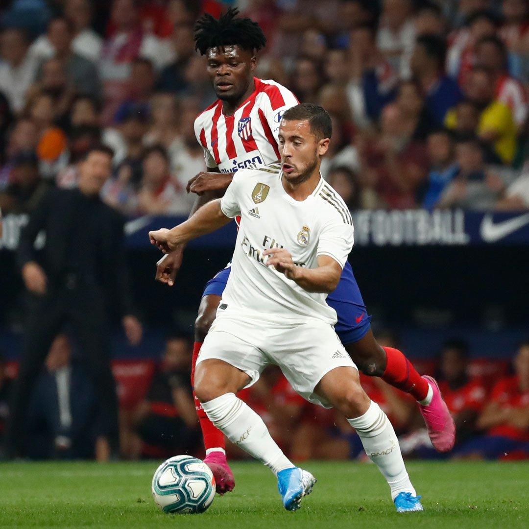 Imagen: Atlético de Madrid-Real Madrid. Imagen vía: Twitter oficial del Real Madrid