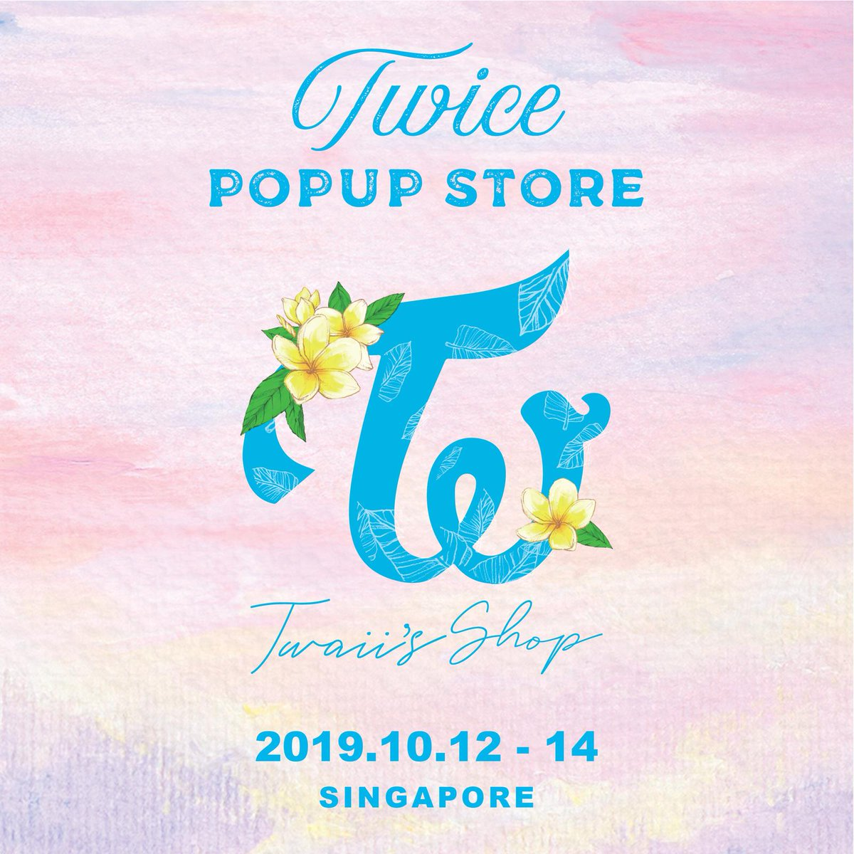 "TWICE POPUP STORE 'Twaii's Shop' coming to u this Oct! TWICE POPUP STORE ""Twaii's Shop"" in SINGAPORE DATE:10.12 (SAT) – 10.14 (MON) *WHILE STOCKS LAST LOCATION: *SCAPE, 2F OPERATING HOURS:11:00am – 8:00pm More info: @OneProductionSG #TwaiisshopinSG #TWICEPOPUPSTOREinSG"