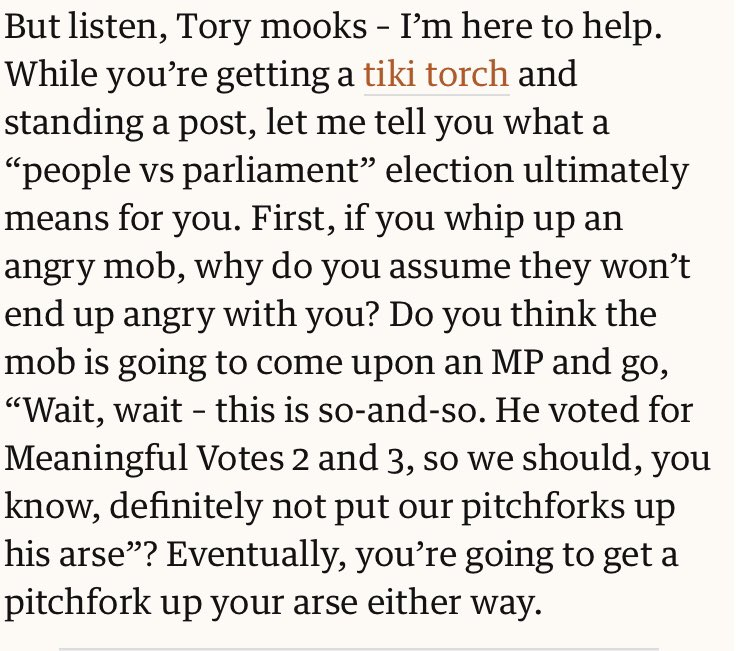 """The brilliant @MarinaHyde patiently explains to Tory MPs what """"people vs Parliament"""" will mean for them"""