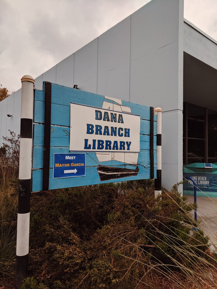 We're at today's #MeetTheMayor at the Dana Branch Library! 📖 Be sure to come and hear about all that we're doing in Long Beach: 3680 Atlantic Ave, Long Beach, CA 90807