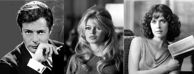 Happy birthday to Marcello Mastroianni, Brigitte Bardot and Sylvia Kristel.