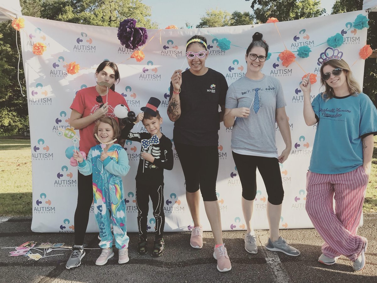 Valued volunteer/NHA family member Nate Nolan passed away last June. Today @nashvillehumane walked in his honor at The Autism Tennessee walk. Thank you Nate for making such a positive impact on the animals & everyone around you #ThisIsNashville #ThisIsLove bit.ly/AutismTN